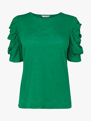 L.K.Bennett Rain Ruched Sleeve Top