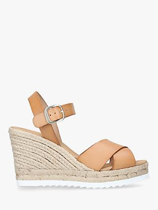 8a1b6e39988 Carvela Koy Woven Wedge Leather Sandals