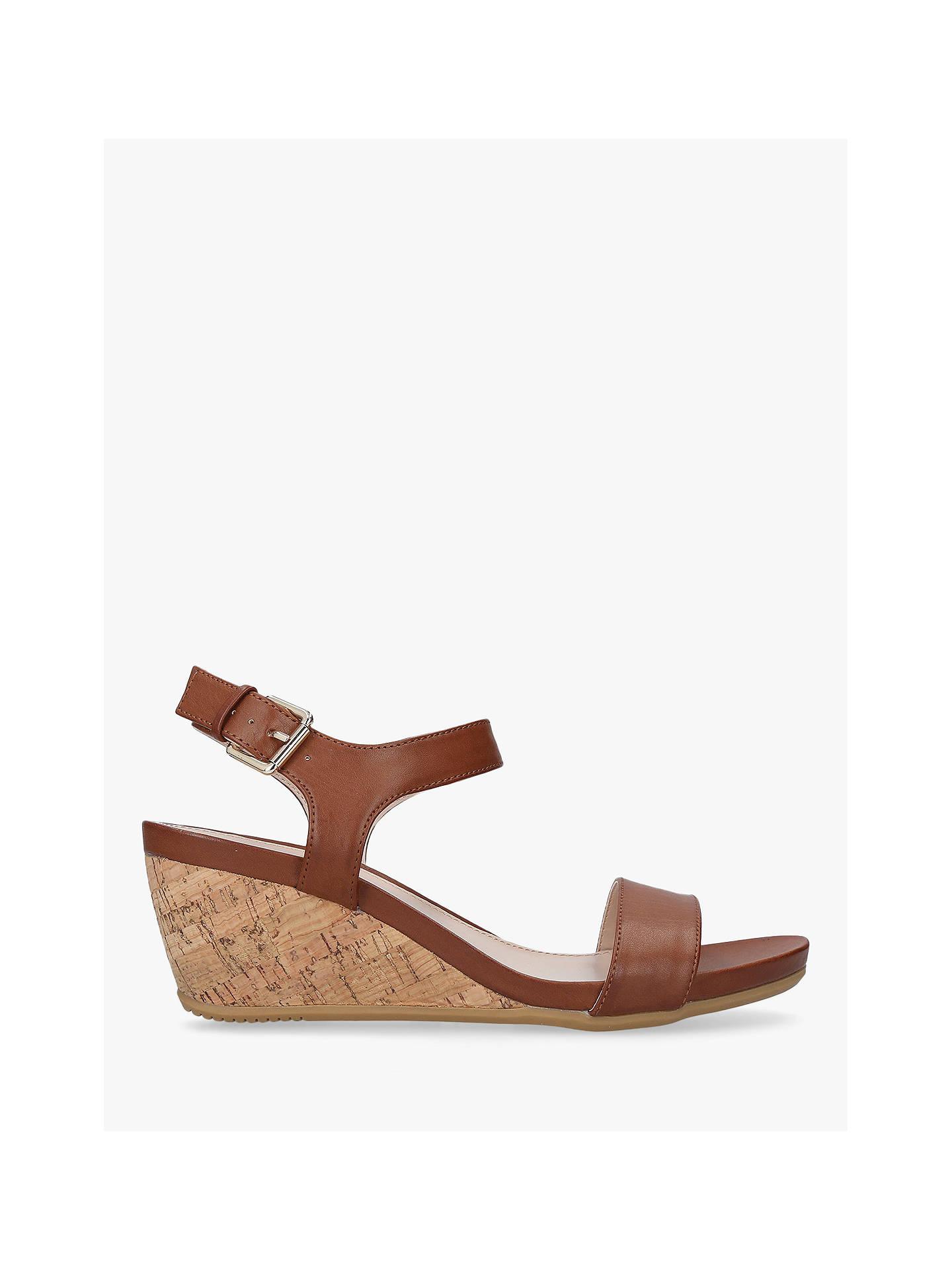 1f87182e4 Buy Carvela Sparkle Wedge Heel Sandals, Tan, 5 Online at johnlewis.com ...
