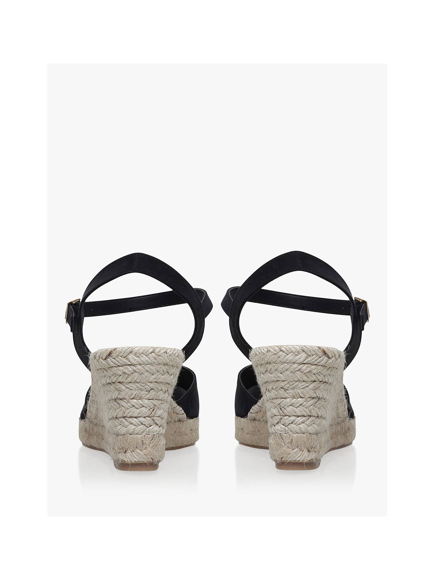 048992b07fd Carvela Sabrina 2 Wedge Heel Sandals, Black, Black