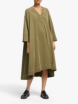 Kin Needlecord Utility Dress, Green