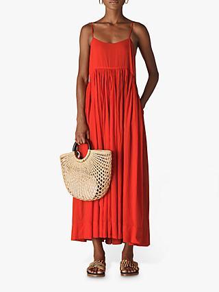 d8903808430 Whistles Carmen Trapeze Sleeveless Maxi Dress