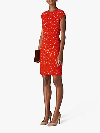 Whistles Daisy Chain Print Dress, Red