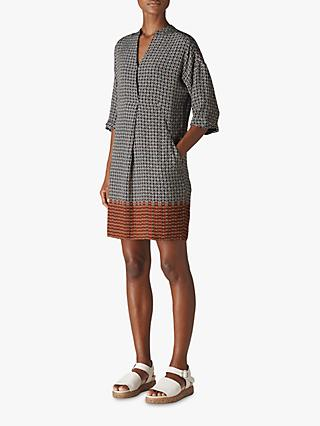 Whistles Luna Geometric Dress, Natural/Multi
