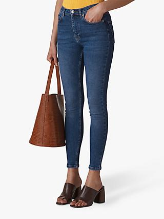 Whistles Sculptured Skinny Jeans, Denim