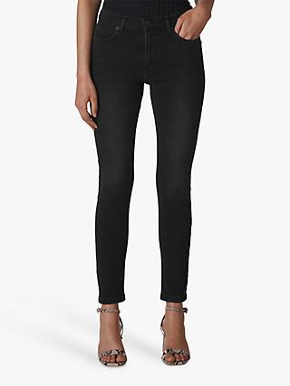 Whistles Sculptured Skinny Jeans, Black