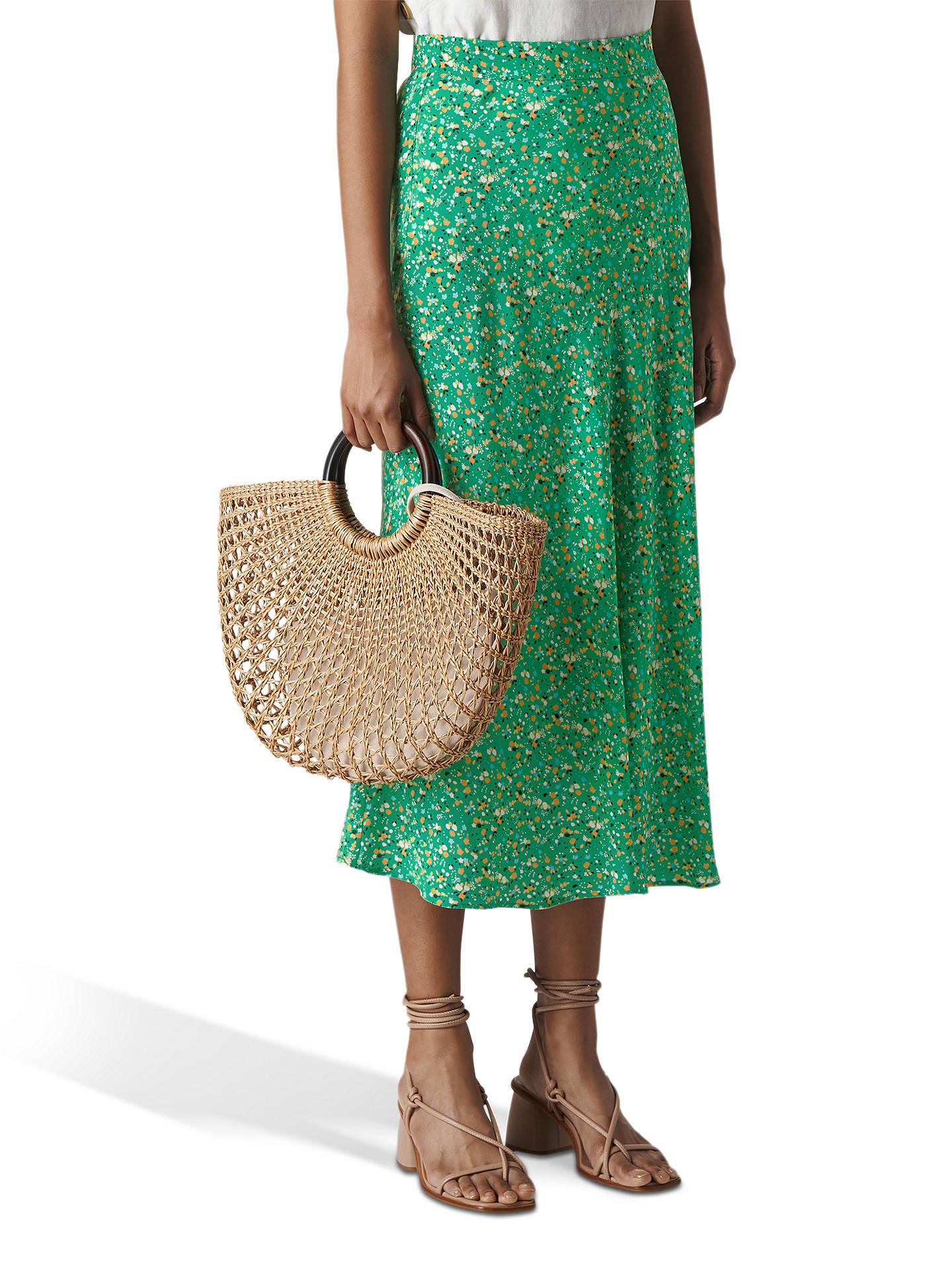 1b994db92b Buy Whistles Ditsy Blossom Skirt, Green, 6 Online at johnlewis.com ...
