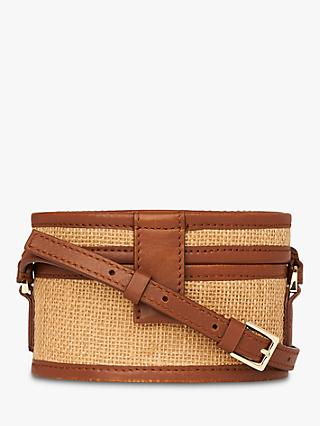 Whistles Simone Straw Box Bag, Neutral