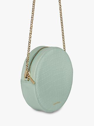 Whistles Brixton Croc Cross Body Bag, Pale Green