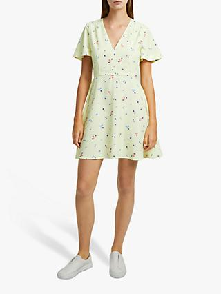 French Connection Frida Flippy Dress, Lemon/Multi