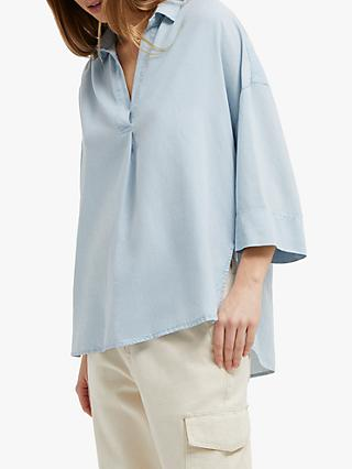 French Connection Julienne Shirt, Sky Blue