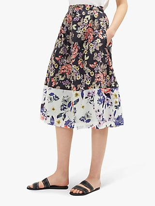 3ea1f4beed0195 French Connection Acaena Floral Button Skirt
