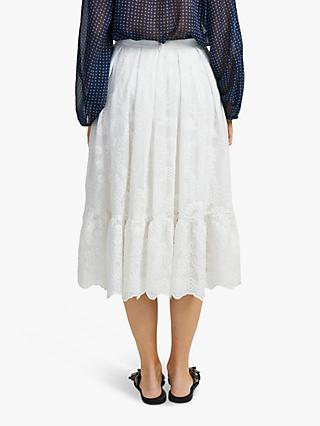 French Connection Camellia Flare Skirt, Summer White