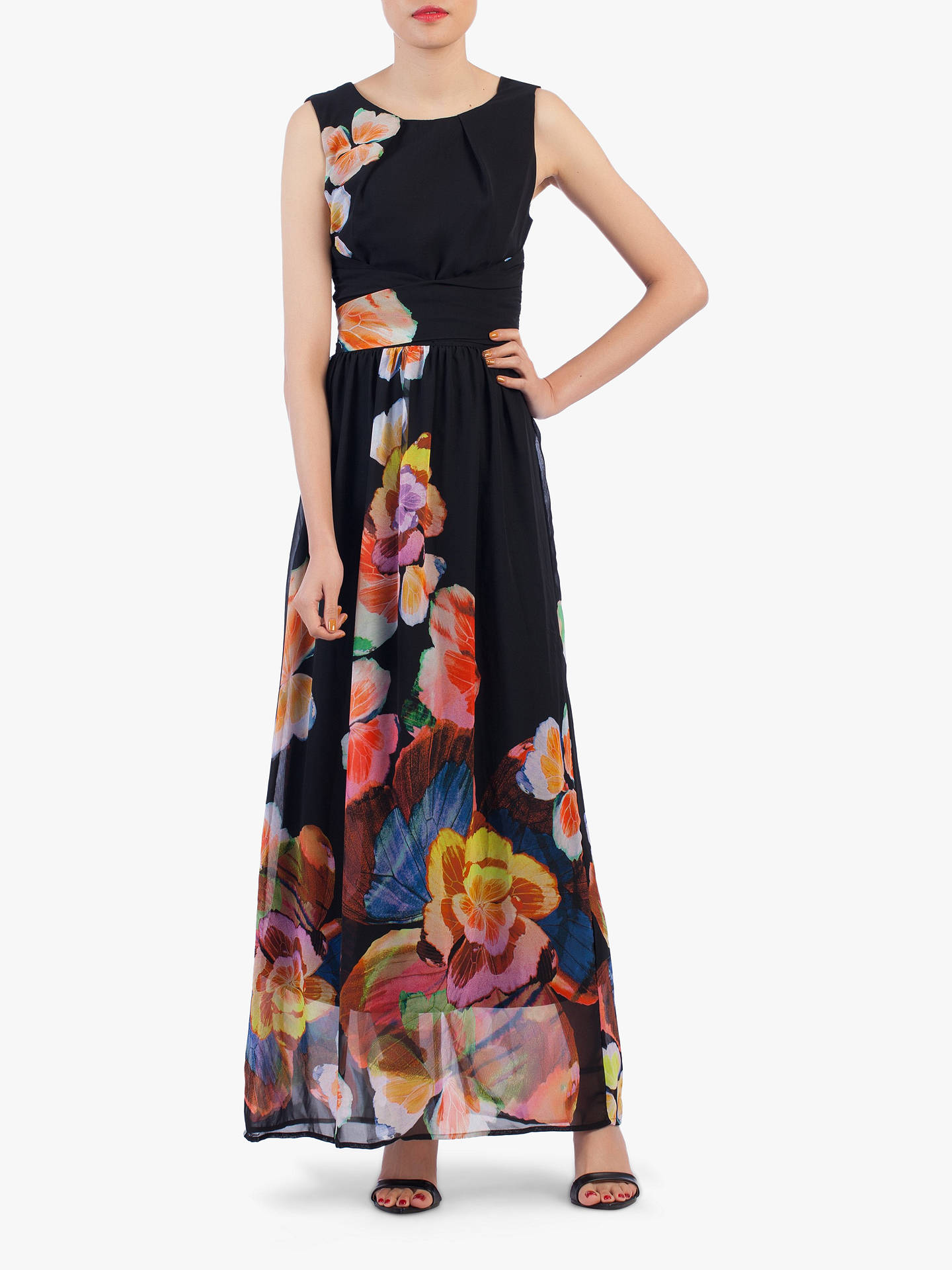 1342c7fc10703 Jolie Moi Floral Chiffon Maxi Dress at John Lewis & Partners