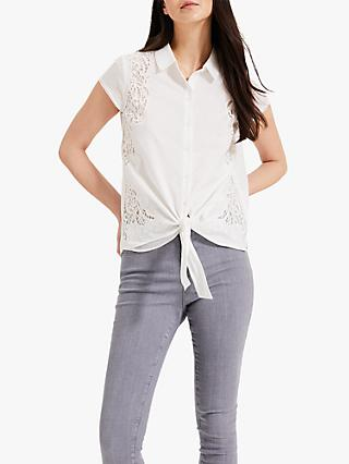 Phase Eight Cordie Cutwork Blouse, White