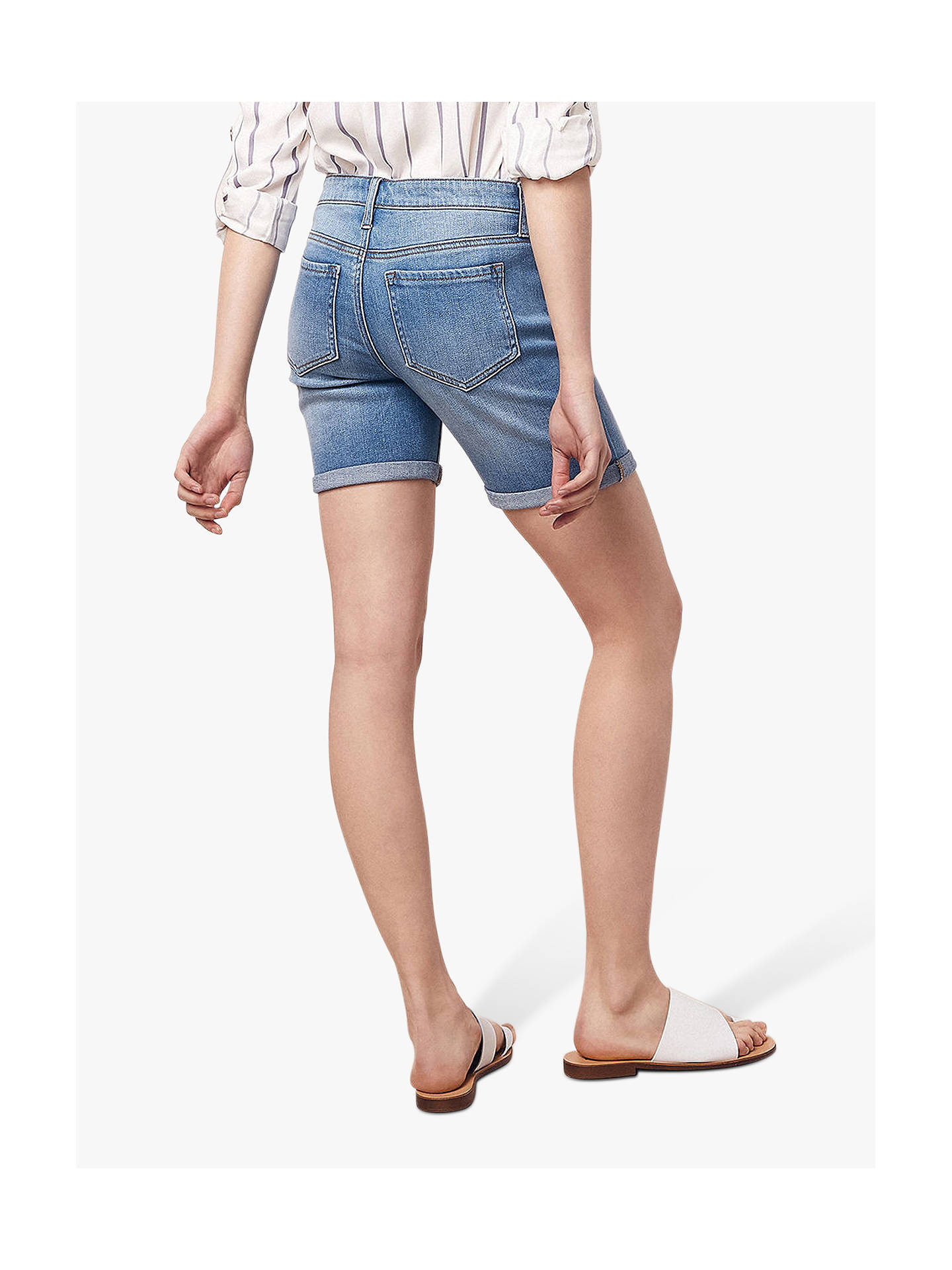 Buy Oasis Long Denim Shorts, Denim, 6 Online at johnlewis.com