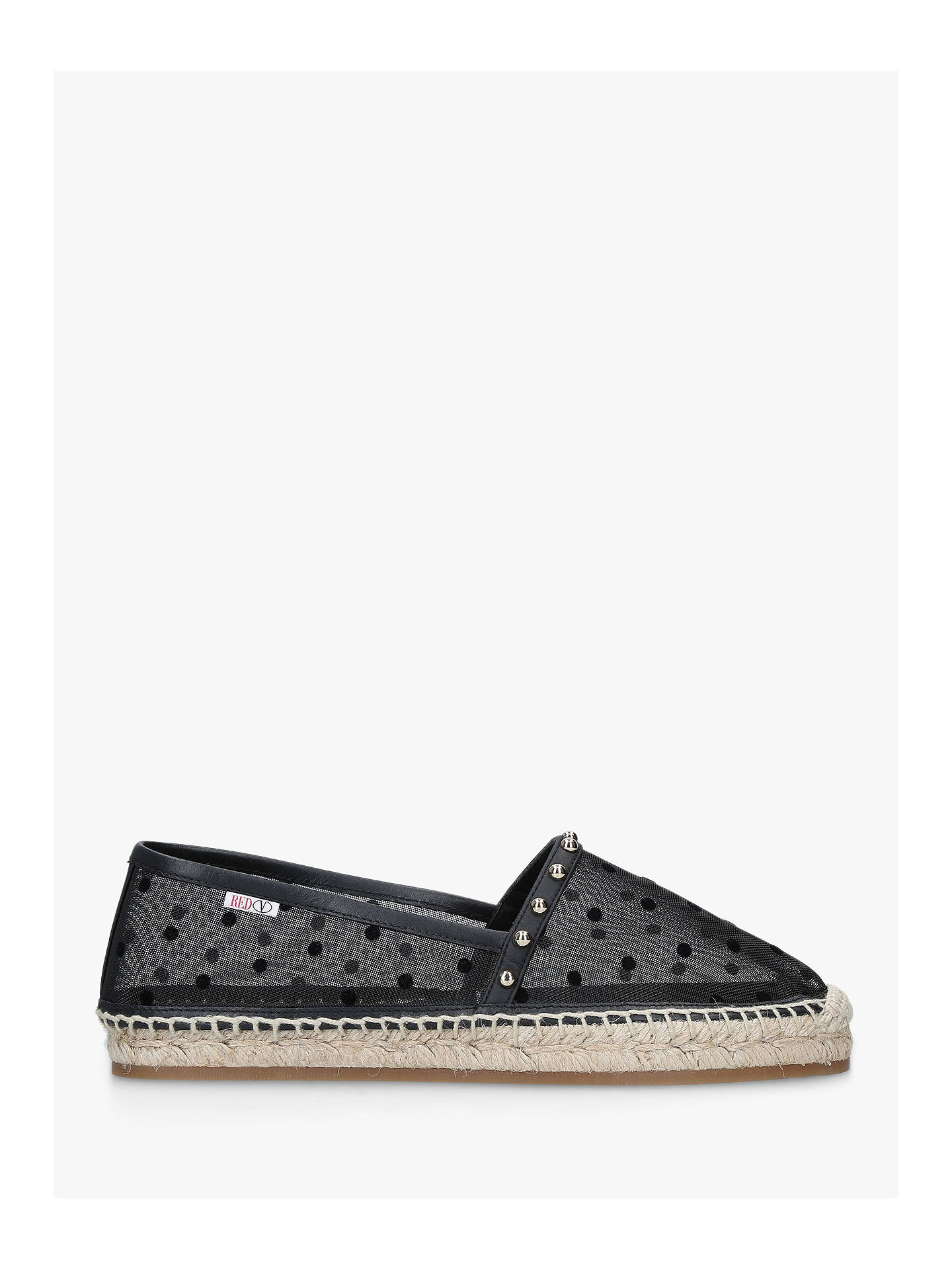 179b5df8572 Buy RED Valentino Espa Stud Espadrilles, Black, 3 Online at johnlewis.com  ...