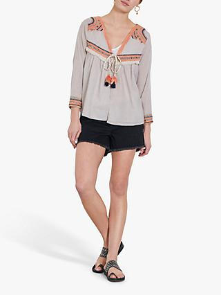 hush Seattle Stripe Embroidery Jacket, Multi