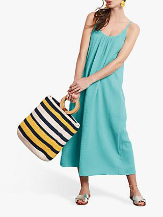 hush Sybil Scoop Neck Maxi Dress, Blue Turquoise