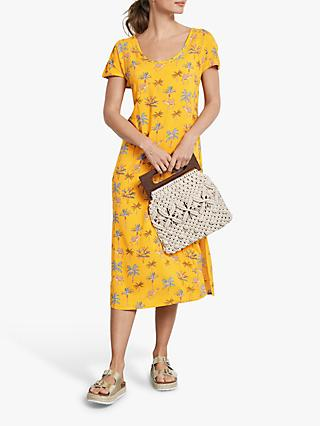 hush Woven Printed T-Shirt Dress, Yellow Camel Print