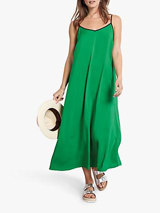 hush Bay Midi Dress, Jolly Green/Midnight