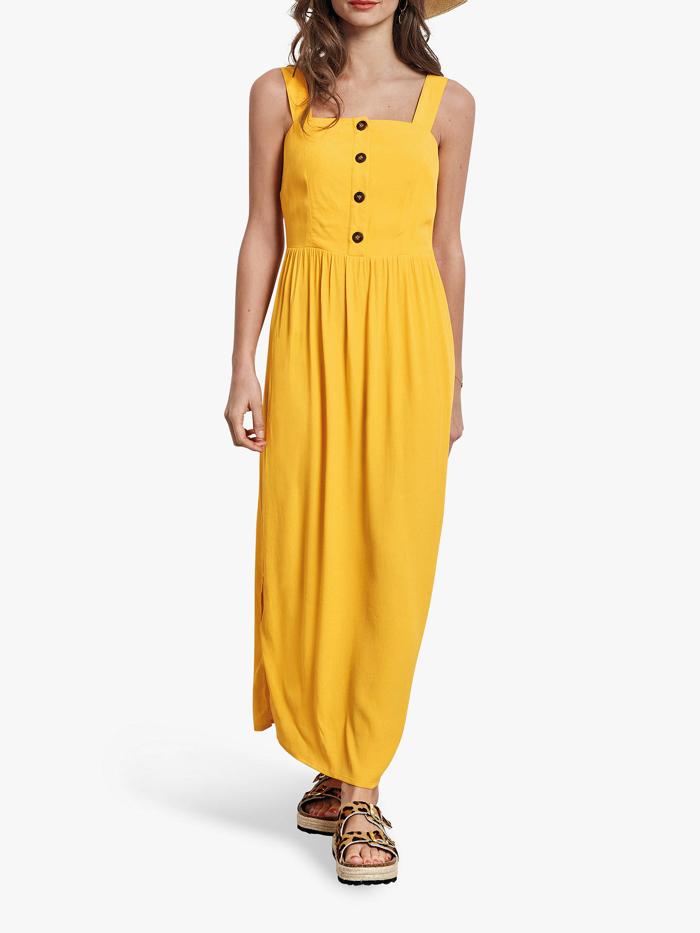 5f706f9a67 Buy hush Carilo Button Sun Dress, Sunshine, 6 Online at johnlewis.com ...
