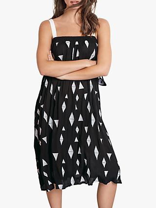 hush Ninette Sun Geometric Dress, Black/White
