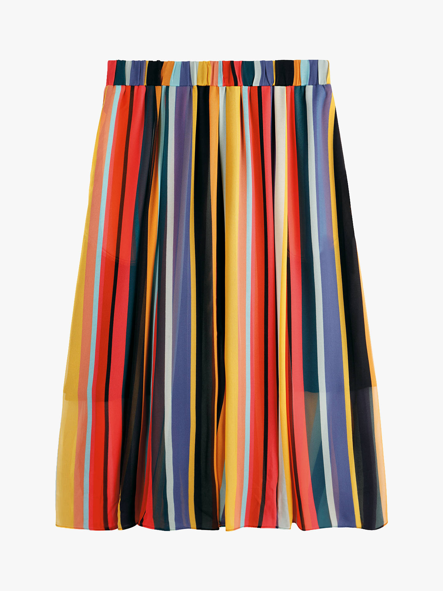 52cb758b5 ... Buy hush Marina Stripe Skirt, Multi, 6 Online at johnlewis.com ...