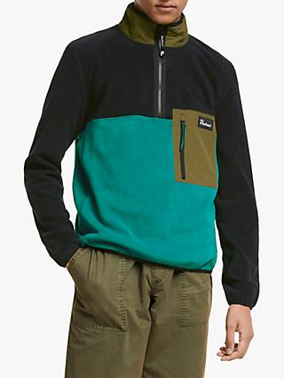 Penfield Half Zip Men's Fleece Top, Dark Olive