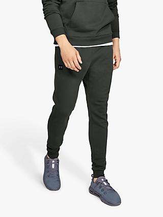 Under Armour Rival Fleece Joggers, Baroque Green/Black