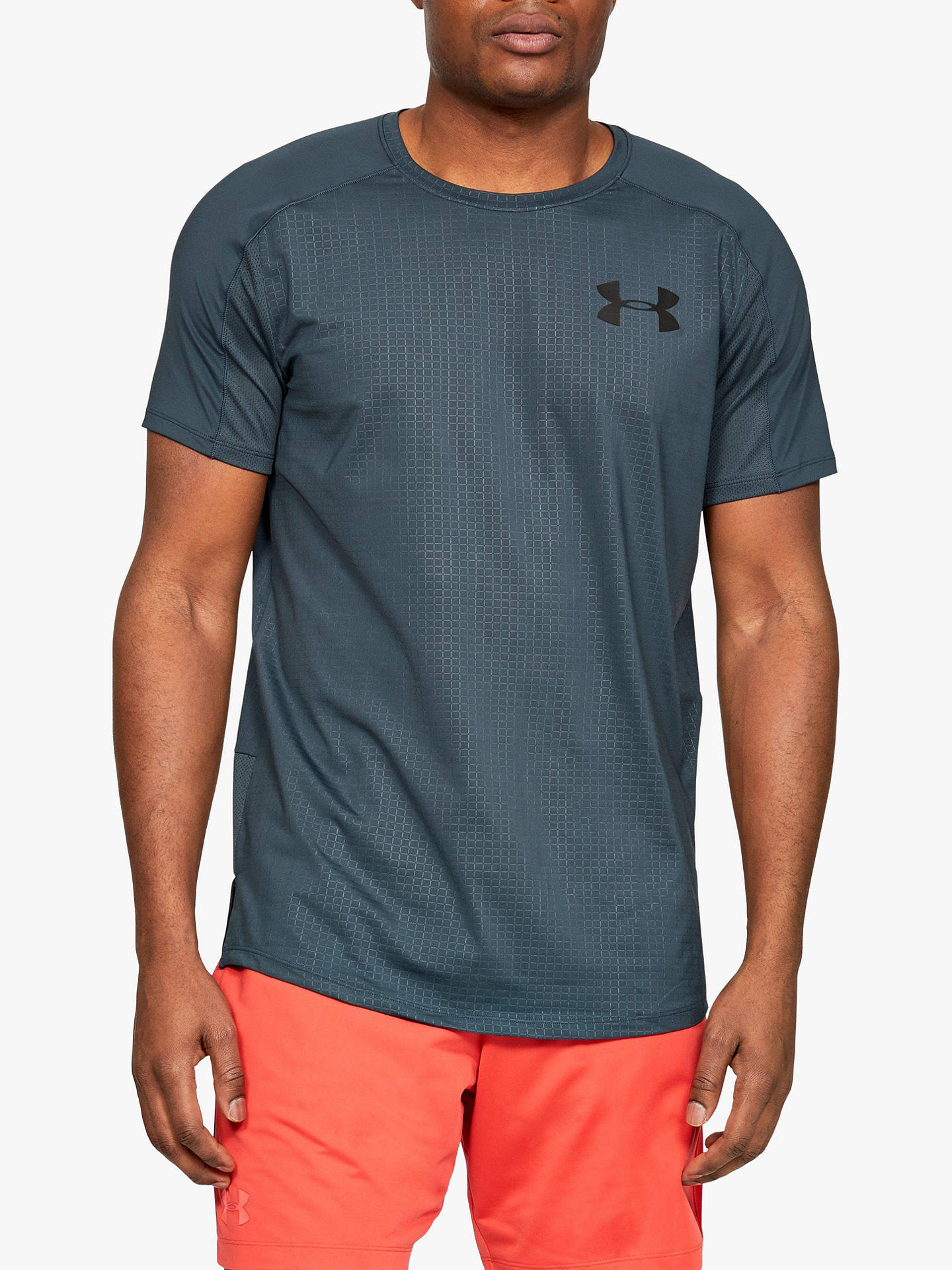 64ef7318 Buy Under Armour MK-1 Short Sleeve Embossed Training Top, Wire/Black, ...