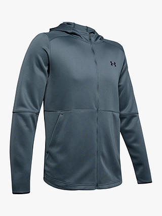 Buy Under Armour MK-1 Warm-Up Full Zip Training Hoodie, Wire/Black, L Online at johnlewis.com