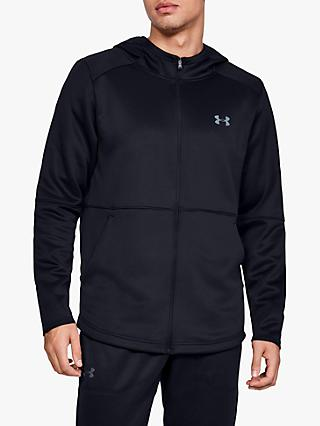 Under Armour MK-1 Warm-Up Full Zip Training Hoodie, Black/Pitch Grey