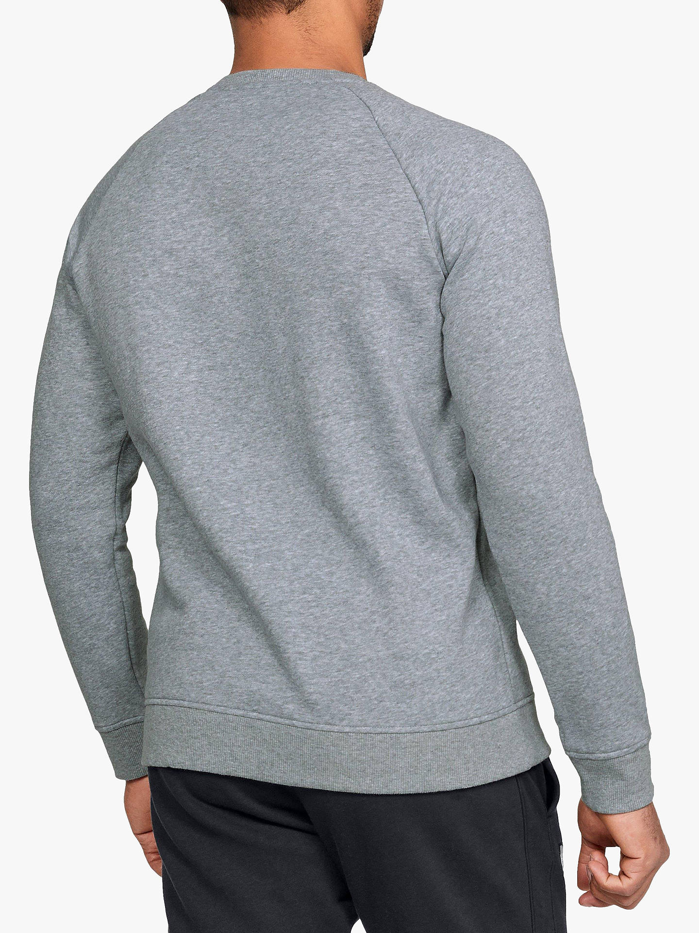 b173f0a941 Under Armour Rival Fleece Crew Neck Sweatshirt, Steel/Black