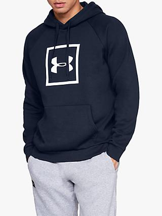 Under Armour Rival Fleece Logo Training Hoodie, Academy/White