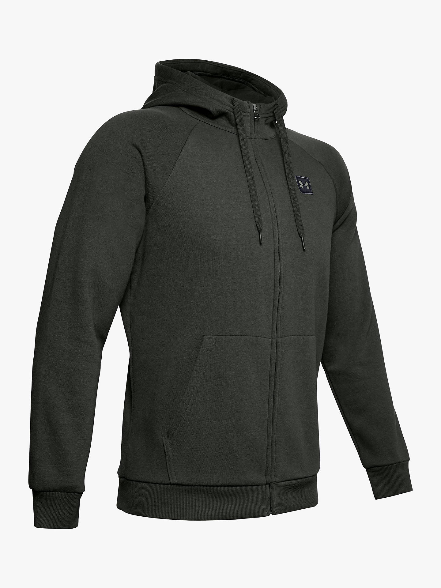 Buy Under Armour Rival Fleece Training Hoodie, Baroque Green/Black, S Online at johnlewis.com