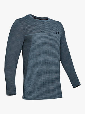 Buy Under Armour Vanish Seamless Long Sleeve Training Top, Ash Grey/Black, S Online at johnlewis.com