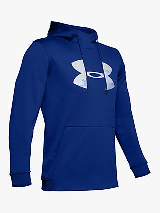 Under Armour Fleece Big Logo Graphic Training Hoodie, Royal/Mod Grey