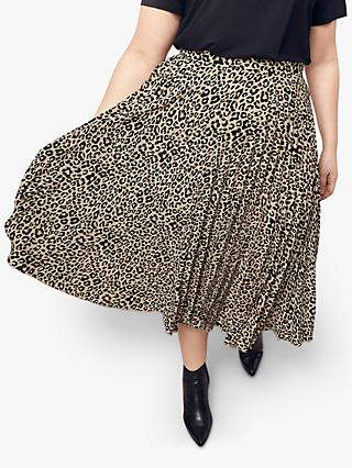 c61c0b6115a9 Oasis Curve Animal Print Pleated Midi Skirt, Multi