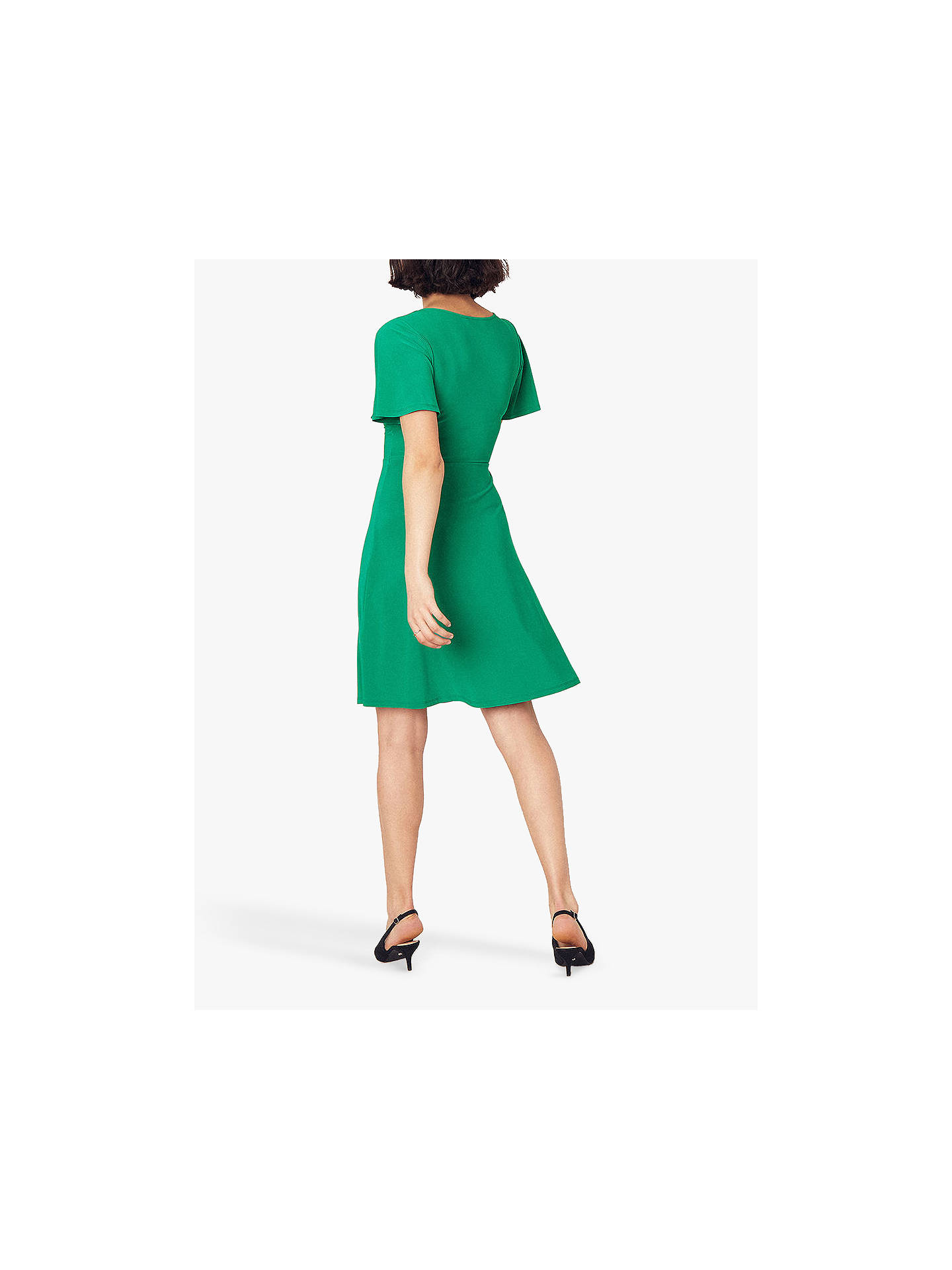 52ca009b52ff4 ... Buy Oasis Juliette Tie Front Dress, Deep Green, XS Online at  johnlewis.com ...