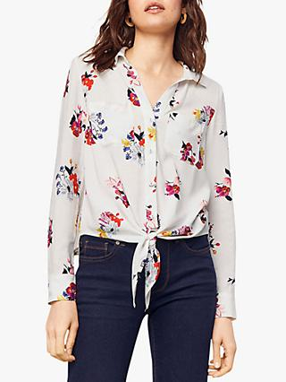 028f37034ca98 Oasis Floral Print Tie Front Shirt