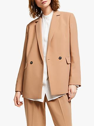 Modern Rarity Longline Tailored Jacket, Natural