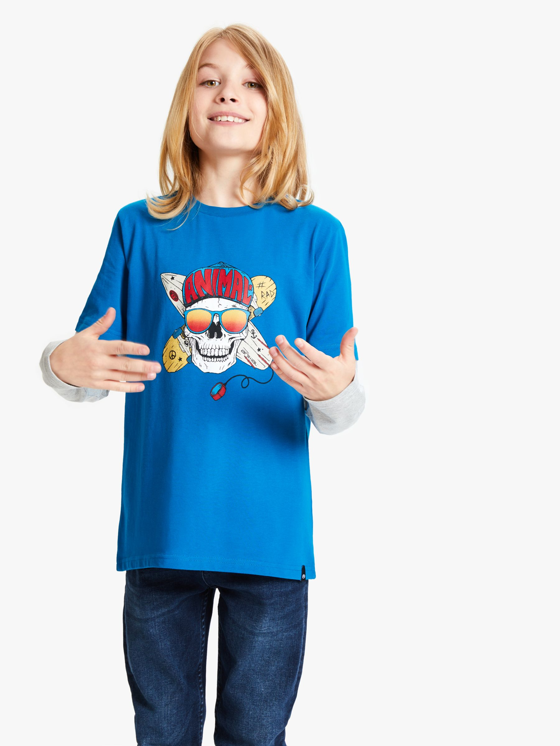 Animal Animal Boys' Crosby T-Shirt, Blue