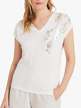Phase Eight Iris Blossom Top, Ivory