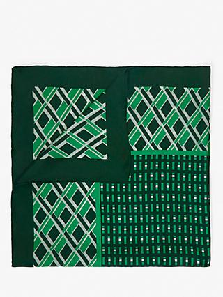 Weekend MaxMara Rivetto Silk Scarf, Green