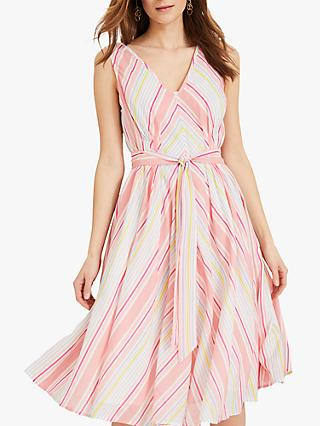 Phase Eight Samantha Stripe Dress, Pink/Multi