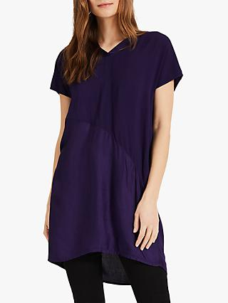 Phase Eight Octavia Satin Blouse, Purple