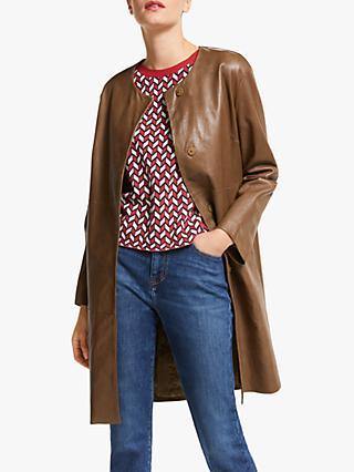 bd5ff05f48 Weekend MaxMara Bobbio Leather Coat, Tobacco