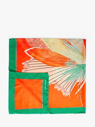 Weekend MaxMara Alsazia Cotton-Silk Scarf, Orange