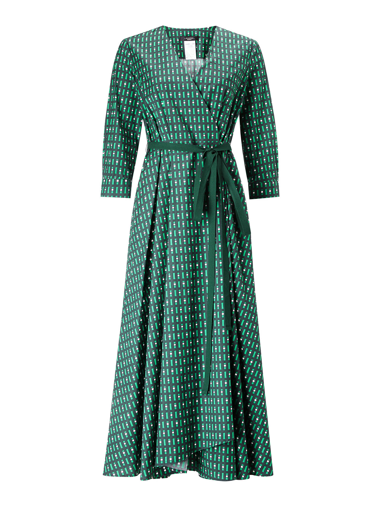 Buy Weekend MaxMara Ravello Wrap Dress, Emerald, 8 Online at johnlewis.com